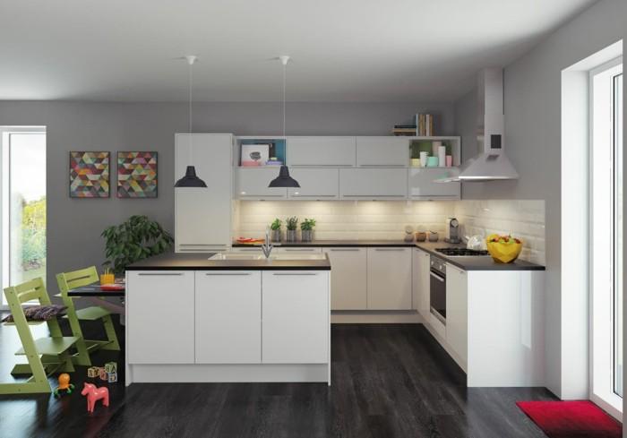Idee peinture cuisine grise