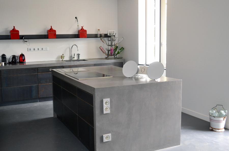 Peinture cuisine beton cire