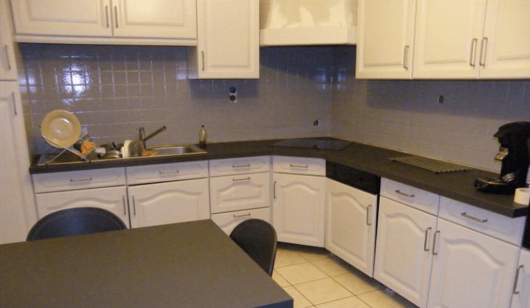 Repeindre cuisine chene en blanc