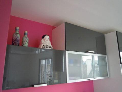 Couleur de peinture avec cuisine grise