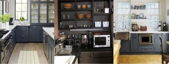 Peinture meuble cuisine gris ardoise