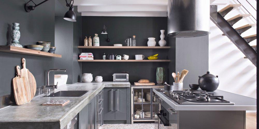 Peinture cuisine meuble gris