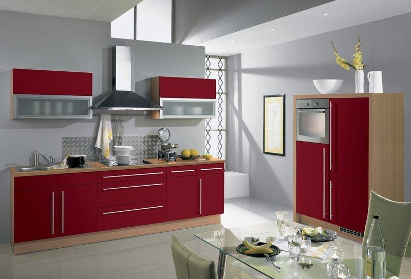 Peinture avec cuisine rouge