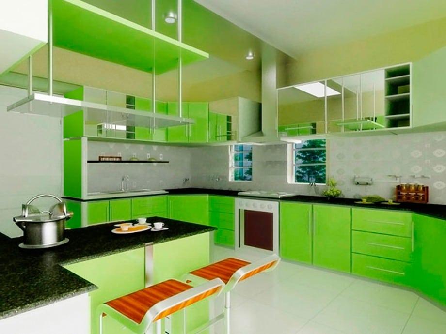 Peinture cuisine vert pomme