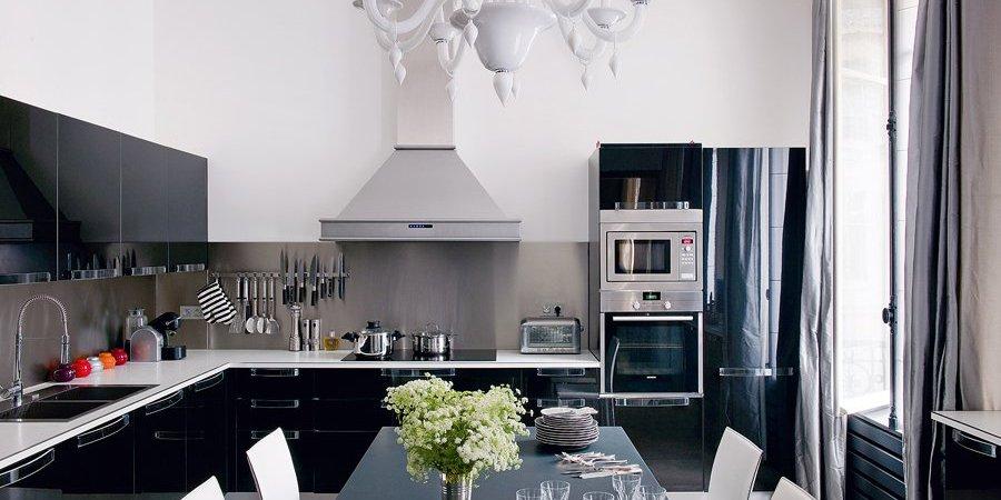 Peinture pour cuisine noire et blanc
