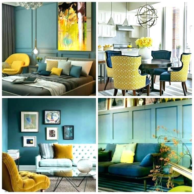 Decoration peinture bleu canard