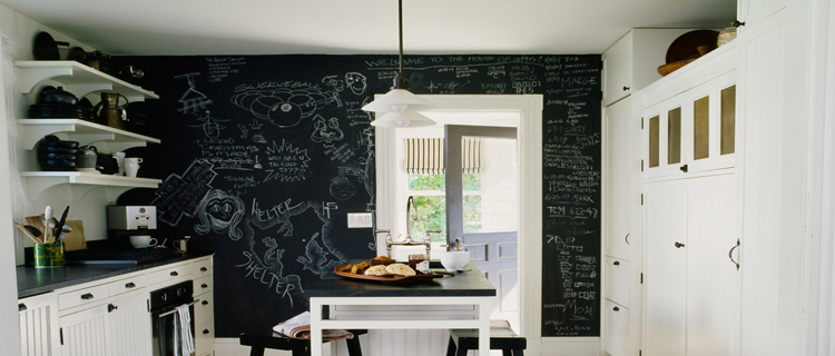 Peinture a effet pour mur cuisine