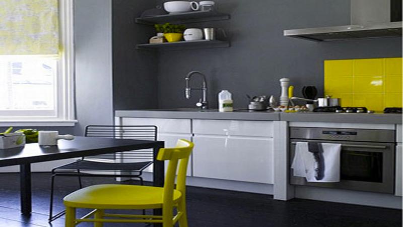 Peinture cuisine jaune vert