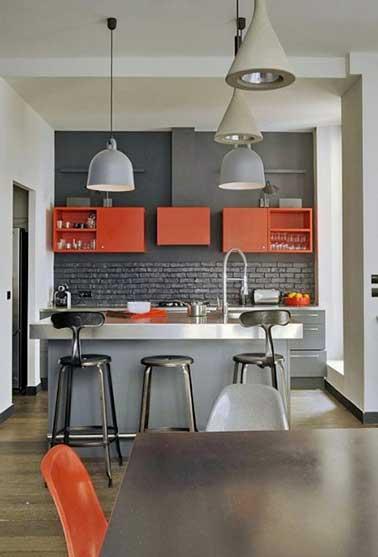 Quelle peinture avec cuisine rouge
