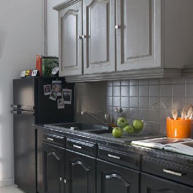 Peinture meuble cuisine vert