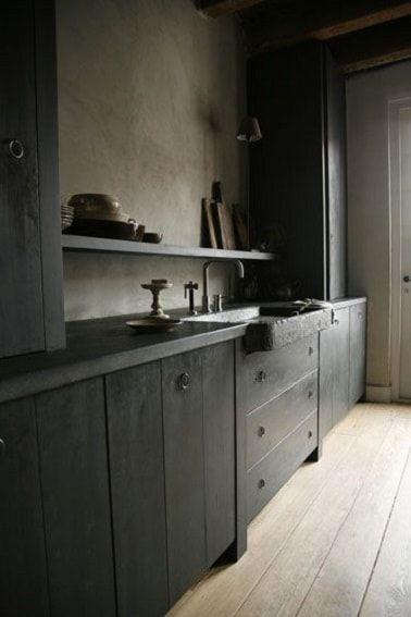 Peinture meuble cuisine gris anthracite