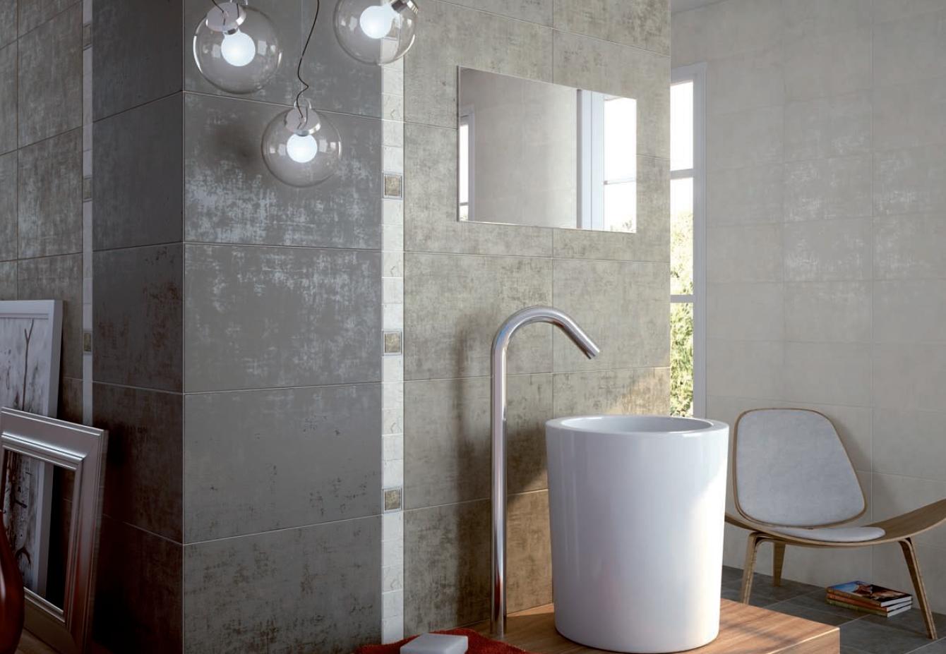Peindre carrelage salle de bain noir et blanc