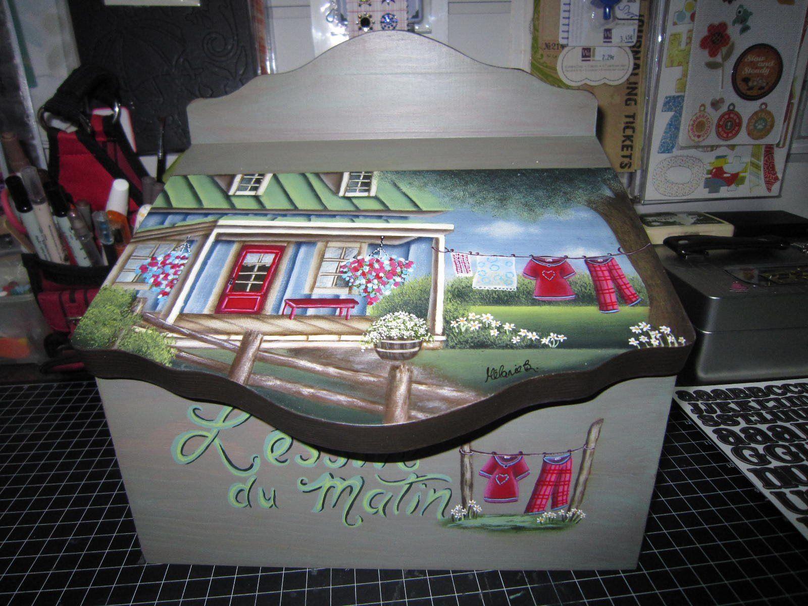Cours de peinture decorative sur bois