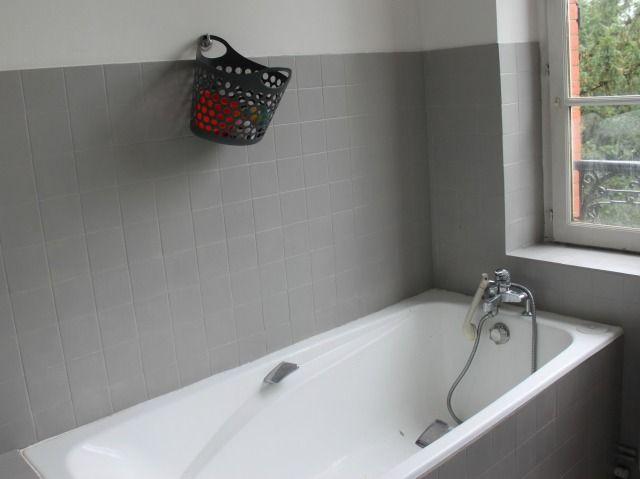 Peinture carrelage salle de bain photo