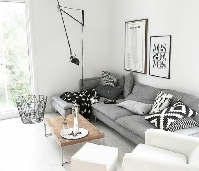 Deco peinture gris et blanc