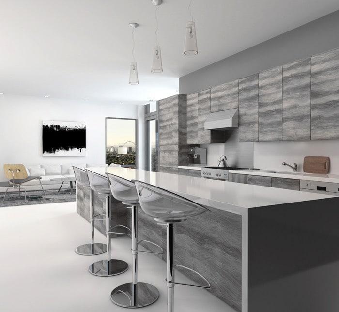 Peinture cuisine gris acier