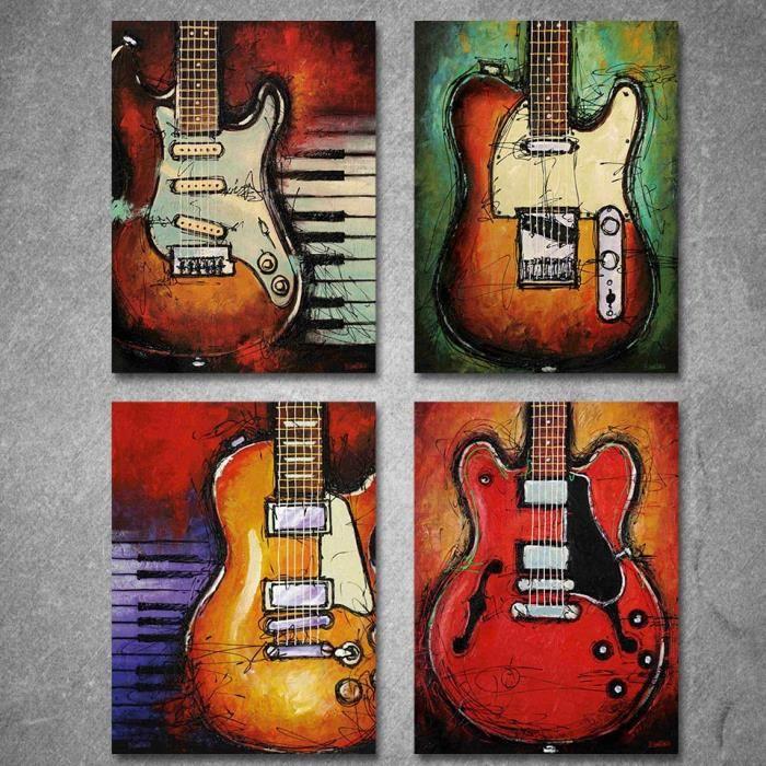 Décoration peinture guitare