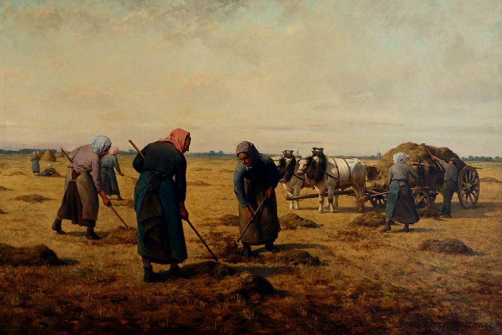 Travaux des champs en peinture