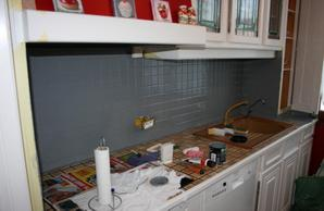 Peindre carrelage cuisine gris