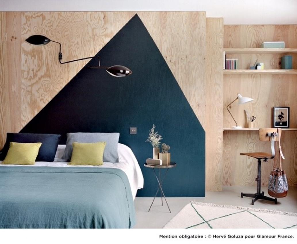 Decoration peinture bleu