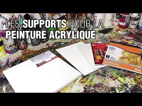 Peinture acrylique quel support