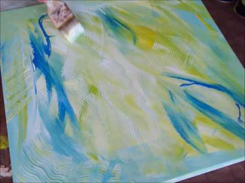 Peinture acrylique sur toile facile a realiser