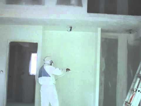 Peinture maison neuve au pistolet