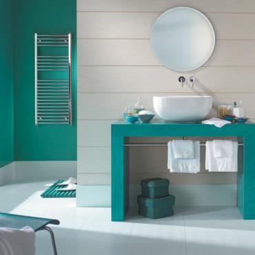 Peinture décoration de salle de bain