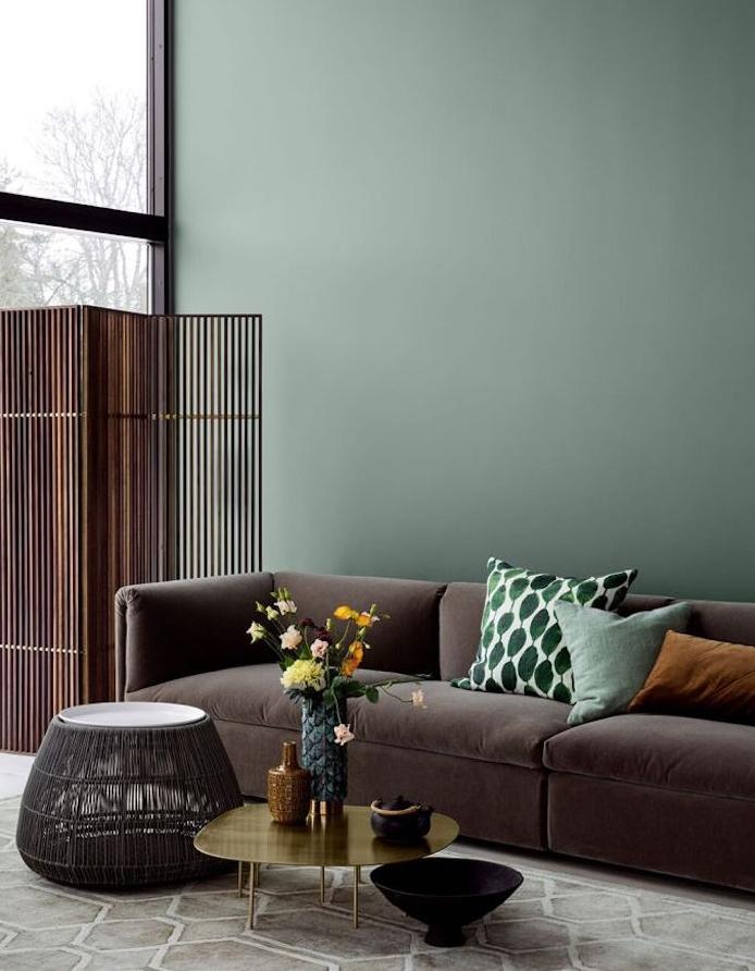 Deco peinture vert et gris