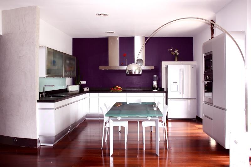 Cuisine peinture couleur aubergine