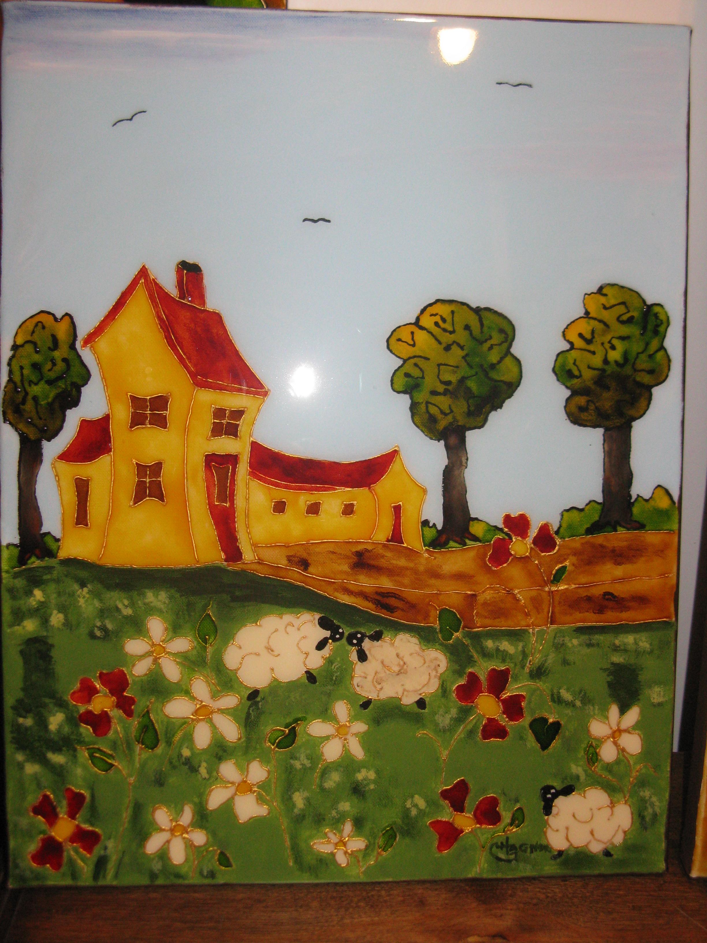 Peinture vitrail maison