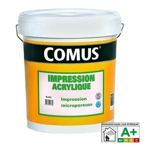 Peinture acrylique microporeuse