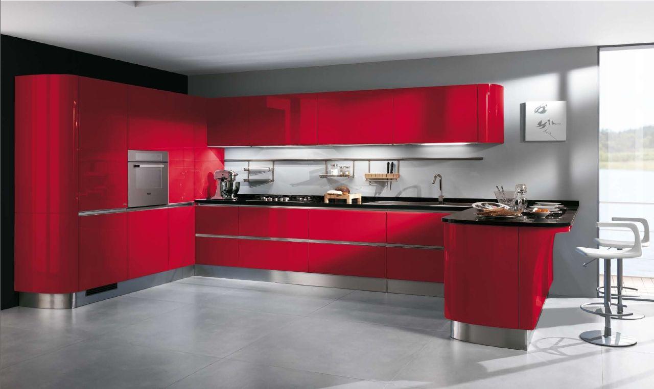 Idee peinture avec cuisine rouge