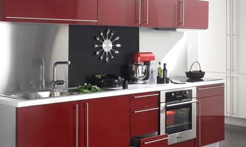 Peinture cuisine rouge brillant
