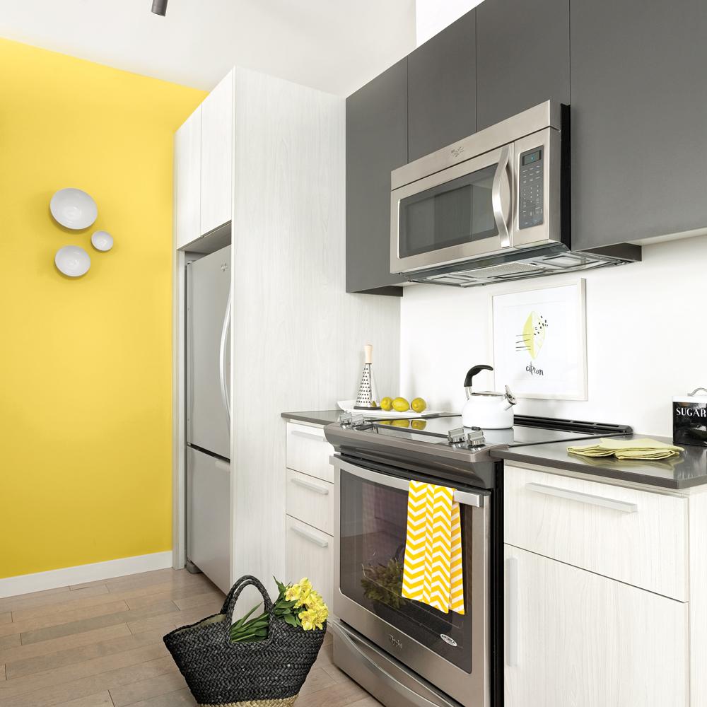 Peinture cuisine jaune citron