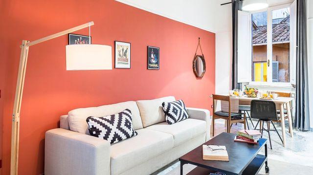 Deco Peinture Orange Salon Livreetvin Fr