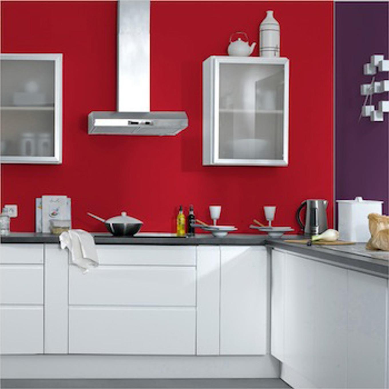 Peinture cuisine rouge piment