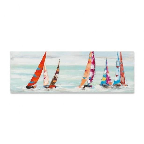 Peinture acrylique voilier