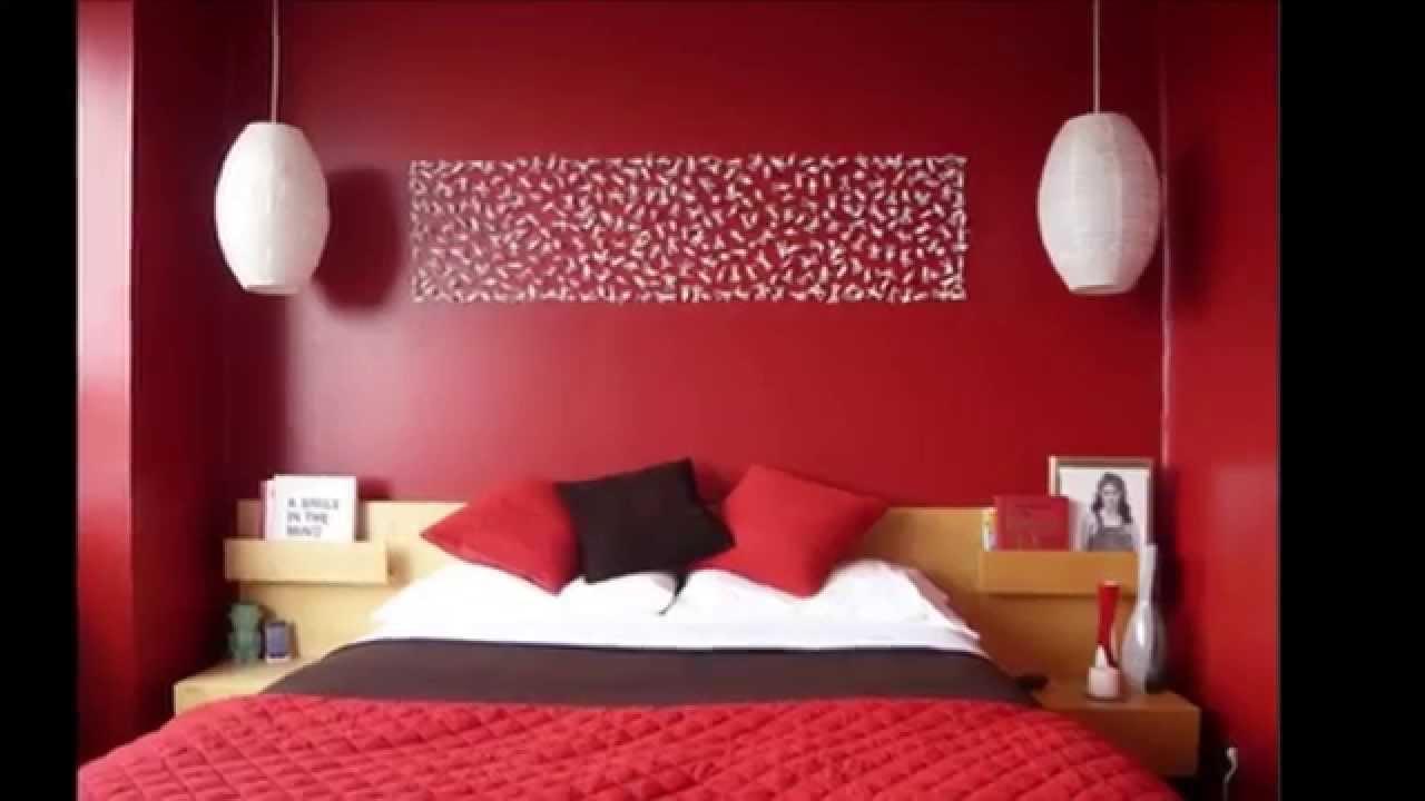 Decoration peinture rouge