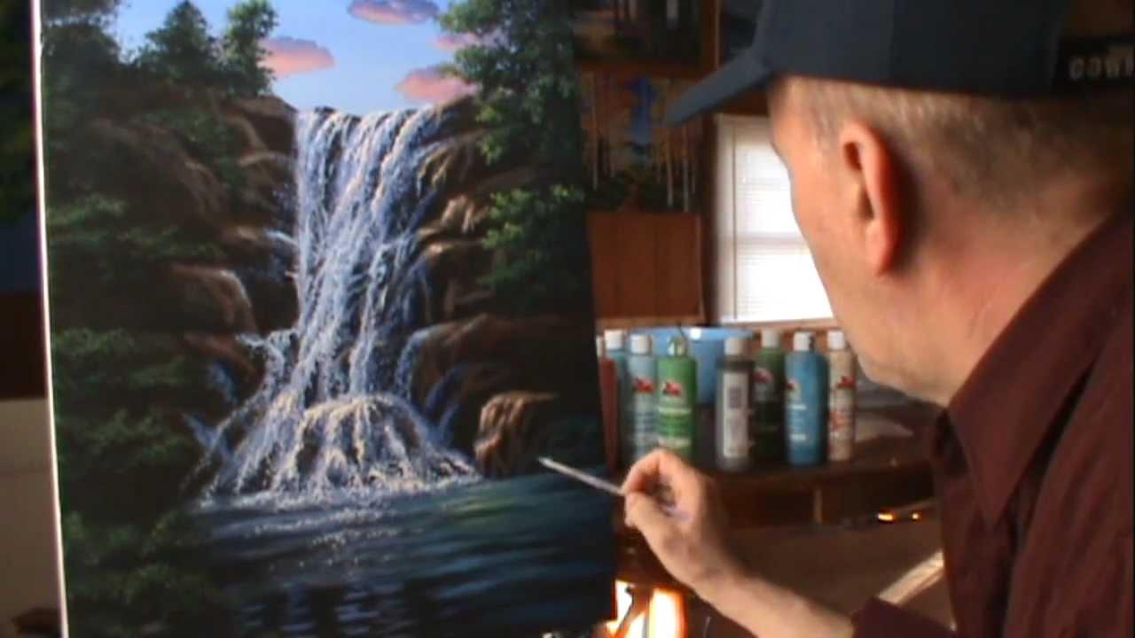 Peinture acrylique goutte d'eau