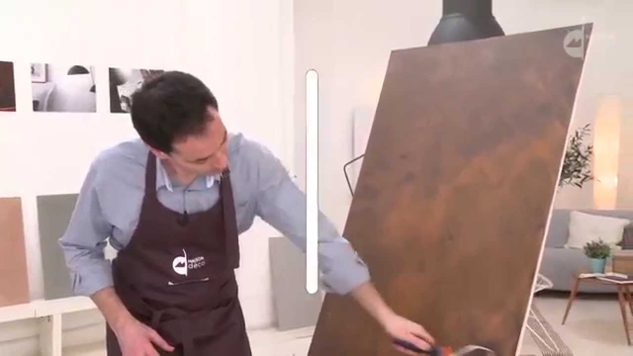 Peinture acrylique imitation rouille