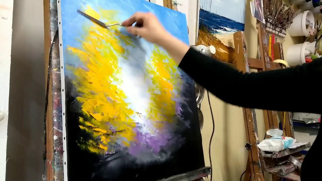 Cours peinture acrylique youtube
