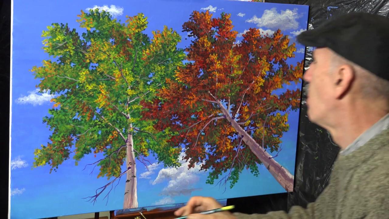 Peinture acrylique sur toile video