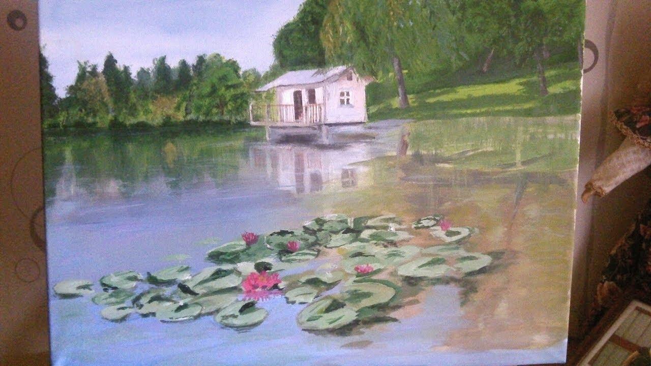 Peindre une maison à l'acrylique