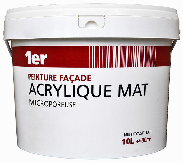 Prix peinture acrylique facade