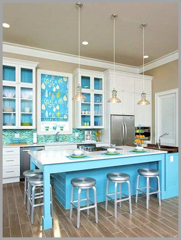 Peinture meuble cuisine bleu canard
