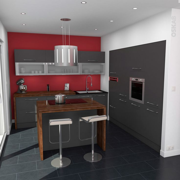 Peinture cuisine avec meuble gris anthracite - Livreetvin.fr