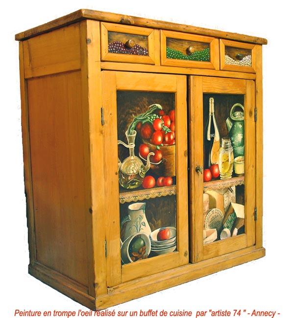 Peinture decorative meuble bois