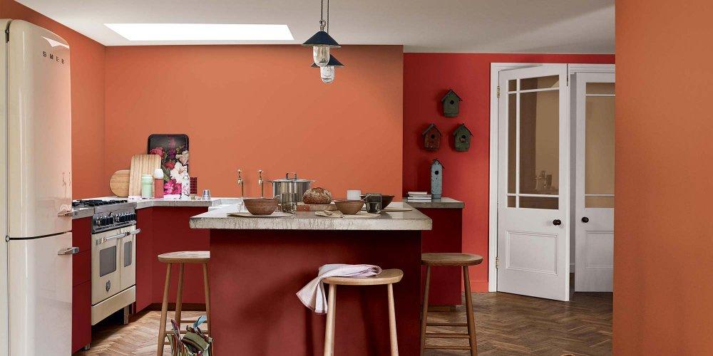 Peinture meuble de cuisine dulux valentine