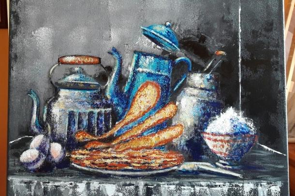 Tableau peinture deco cuisine